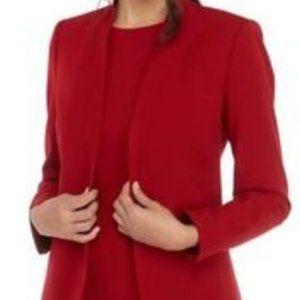 Anne Klein Suit Blazer Titan Red  Sz 10 or 14  NWT